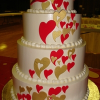 Heart Cascade Wedding Cake I meant for the hearts to trail in the opposite direction! Oh well!