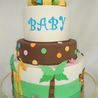 Jungle Baby Shower Cake To match the decorations and plates
