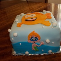Bubble Guppies Cake   Three layer cake....all fondant designs.