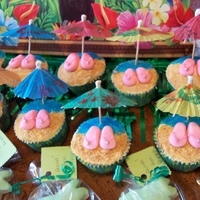 Luau Cupcakes   My daughter's birthday was a luau theme so I made these for her class party!