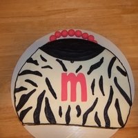 Zebra Purse Cake   All buttercream accept for the letter and the handle is fondant. Thanks for looking!