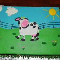 Mooo This little girl LOVED cows!! All buttercream....