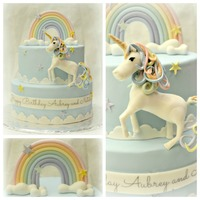 The Unicorn And Rainbow Where Made Out Of Gumpaste The unicorn and rainbow where made out of gumpaste.