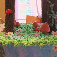 Fairy Garden Cake Project Complete!! Love the way it come out! I wish you could see the disco dust it's glowing with though...why can't they invent...
