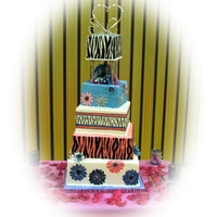 Whimsical Zebra Wedding This is my daughters wedding cake I made in November 2011. This cake traveled 5 and a half hours, partially assembled, and carefully packed...