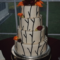 Fall Wedding Delivered this wedding cake today. Made all the gumpaste flowers. They loved it.