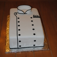 Chef's Coat My brother got married this past weekend. I made this as one of his groom's cakes.