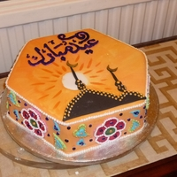 Eid Festival Cake A friend asked me to make a cake to mark the end of Ramadam.