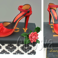 Ladies Shoe And Box All fondant :-)