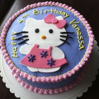 Hello Kitty The Hello Kitty is made out of fondant.