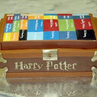 Harry Potter Chest al butercream with fondant accents. The piping is 24 carat gold