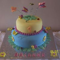 Arianne's First B-Day Client wanted a cake with butterflies and seeing my DH worked with the dad i went all out. They loved it. The mom didn't even wann cut...
