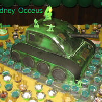 Army Tank Cake I made this cake for my nephew 4th b-dayhe loved it,anything to make my baby happy .. Leave a Comment .thanks