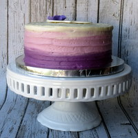 Purple Ombre Cake Purple ombre cake! Red velvet with cream cheese frosting!