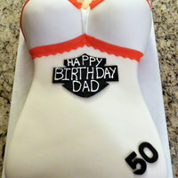 Harley Davidson Corset Cake my first carved cake as well as my first full fondant cake!!