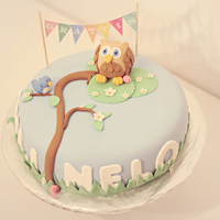 Owl Birthday Cake For Mili & Nelo Birthday cake for Mili and Nelo...