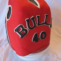 Jersey Cake For 40th birthday for Chicago Bulls fan