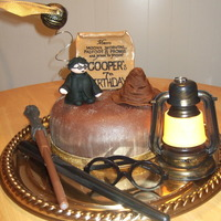 Harry Potter Birthday Cake Cake for DS's 7th birthday. Covered in chocolate fondant. Fondant sorting hat, Harry Potter figure and Marauder's map. In the...
