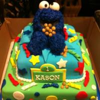 Cookie Monster 1St Birthday Cake Cookie Monster 1st birthday cake