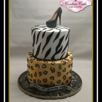 Buttercream Cheetah Print And Zebra In Buttercream With Fondant Stripes Buttercream Cheetah print and zebra in buttercream with fondant stripes