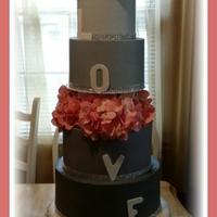 Buttercream Wedding Cake Bottom Tier Has Fondant Petals Buttercream wedding cake. Bottom tier has fondant petals