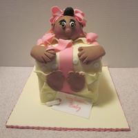 Surprise Its A Girl! Babyshower Cake