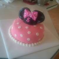 Minnie Mouse Ear Cake Chocolate cake with Chocolate Mousse filling. MMF covered. This cake I did with an amazing cake decorator friend of mine, Neither of us had...
