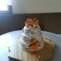 My First Tree Bark Wedding Cake. Tree Bark wedding cake.