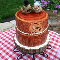 Engagement Cake Made To Match A Photo Of A Woodgrain Cake The Couple Liked Exterior Is Fondantmodeling Chocolate Mix With Gel Color Brush Engagement cake made to match a photo of a woodgrain cake the couple liked. Exterior is fondant/modeling chocolate mix, with gel color...