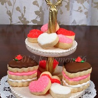 2 Tiered Edible Cookie Plate  This is just part of a calendar project with a small group cookie friends. I did a Valentine collage for the month of February. This was...