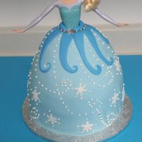 Frozen Princess Elsa Doll Cake My version of a Princess Elsa cake. WASC cake with vanilla buttercream covered in fondant