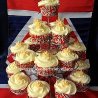 A Royal Celebration I made 50 of these cupcakes for a Royal Wedding party we had at the elderly centre, where I volunteer. The crowns & hearts are made...