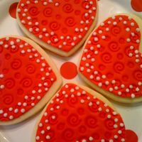 Heart Cookies Used NFSC, rolled Satin Ice and impression mat. Added some royal icing for decoration.