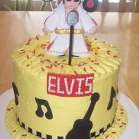 Elvis Sings Kentucky Rain In The Ghetto This is a 6 in.chocolate cake with buttercream icing and fondant accents.