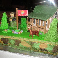 Hunting Theme Retirement Cake   Hunting theme retirement cake