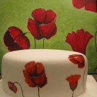 Poppy Painted Cake Painting I did and then the cake as my representation of the painting. All done with food coloring.