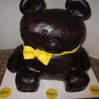 Teddy Bear Cake Chocolate cake with chocolate ganache