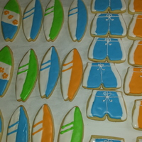 "1St Bday Cookies For A Surfs Up Theme Party   1st bday cookies for a ""Surfs up"" theme party!"