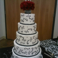 Red/black/white Wedding