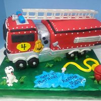 3D Firetruck Cake Covered In Mmf Ladder Is Gumpaste And Tires Are Chocolate Donuts All Other Is Mmf Tfl *3D Firetruck cake covered in MMF. Ladder is gumpaste and tires are chocolate donuts. All other is MMF. TFL.