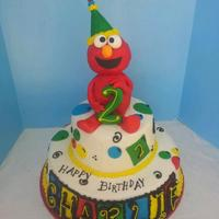 Elmo Made From Rkt Cake Adorned With Mmf Accentstfl Elmo made from RKT. Cake adorned with MMF accents.TFL!