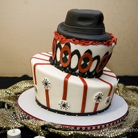 Man 30Th Birthday Cake sculpted cake fedora on top of a topsy turvy cake. lots o' fondant