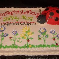Off To Uga! buttercream cake with fondant accents, clients daughter loves ladybugs.