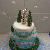 Frozen Cake I Made For My Niece Olaf Is Made Out Of Gumpaste Trees Snowflakes Flowers Are Fondant And Rock Candy Boarder Frozen cake I made for my niece! Olaf is made out of gumpaste, trees, snowflakes, flowers are fondant, and rock candy boarder!