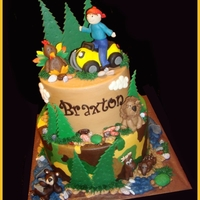 Camouflage/outdoor Cake all the boy's favorite things!