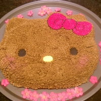 Hula Hello Kitty Just wanted to see if I could do a Hello Kitty cake.