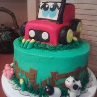 Farm Cake BC and Fondant...I guess the little boy loved the tractor :)