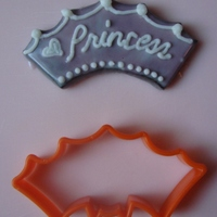 Princess Crown From Halloween Cutter Turned a bat cutter upside down and used a circle cutter to remove the head to produce a princess crown shape. Another use for a Halloween...