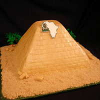 Pyramid Fun cake to make, had issues with the pointy top though (reason for it being flat on top, LOL), but, it came out pretty nice!! The people...