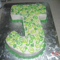 "The ""j""   done for my co-workers bday. Jamaican rum cake with buttercream icing"